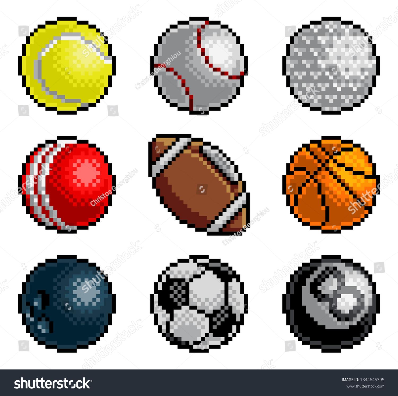 8 Bit Pixel Art Style Video Stock Illustration 1344645395