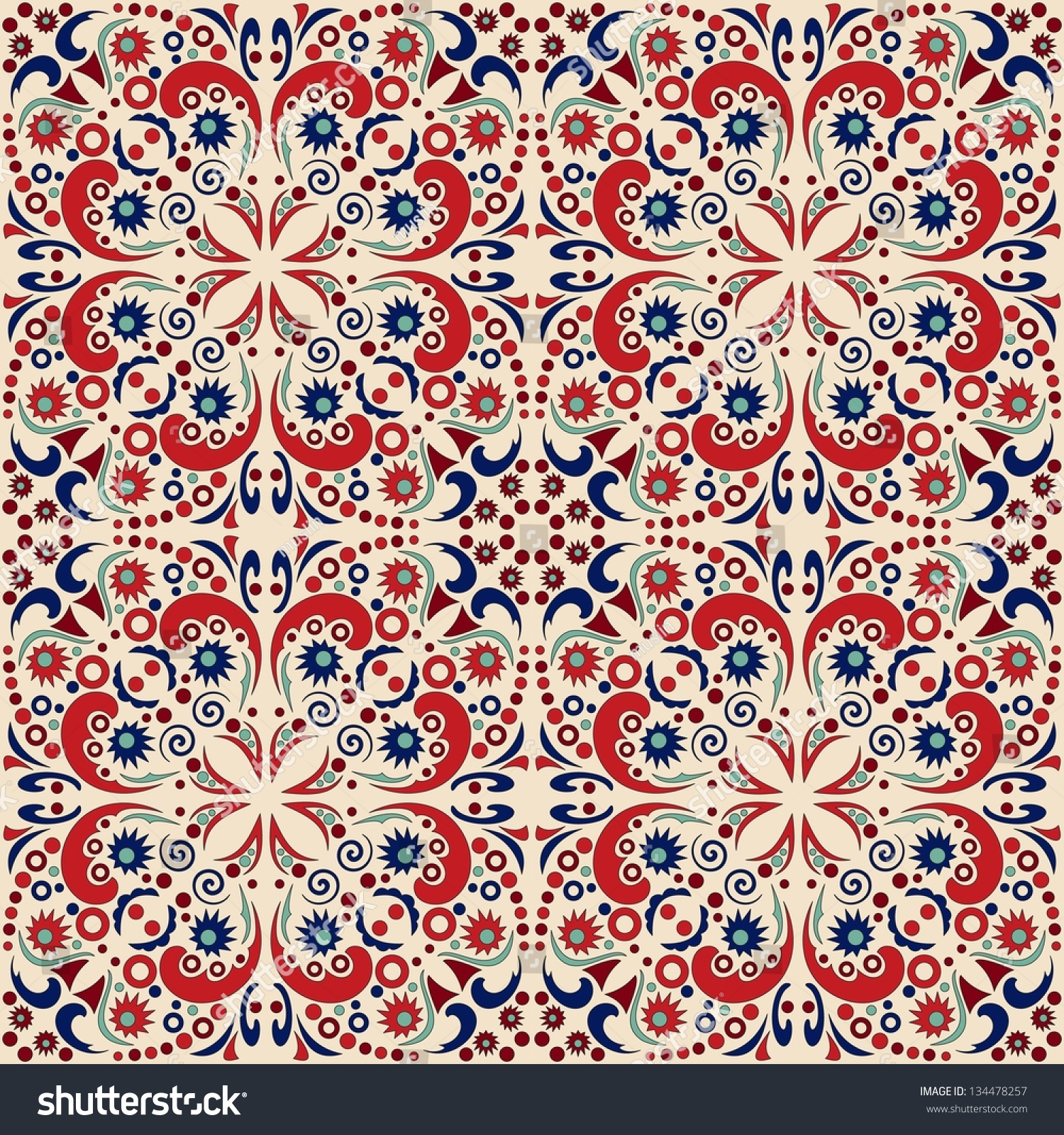Seamless pattern detailed vector persian carpet stock for Persian carpet texture seamless