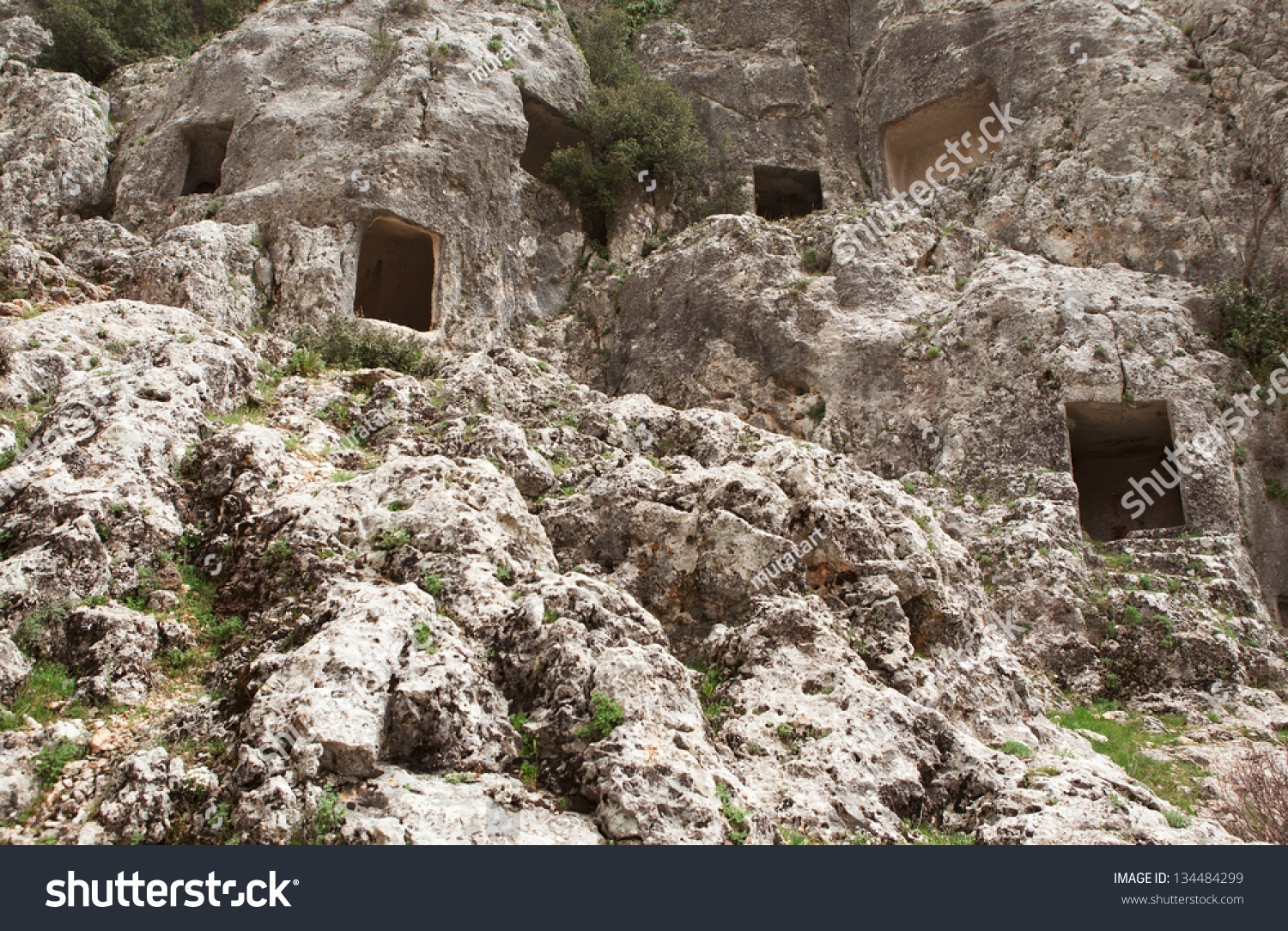 Ruins Of Olba Kindom, View Of Rock Tomb At Mersin Turkey ...