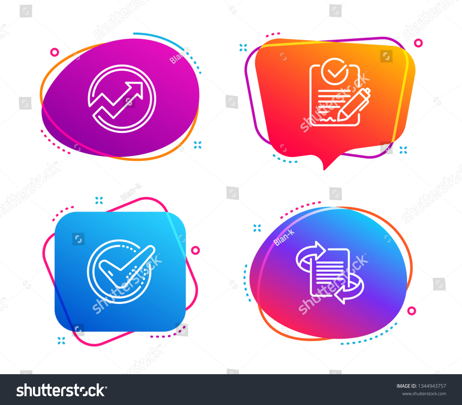 Confirmed Audit Rfp Icons Simple Set Stock Vector (Royalty Free