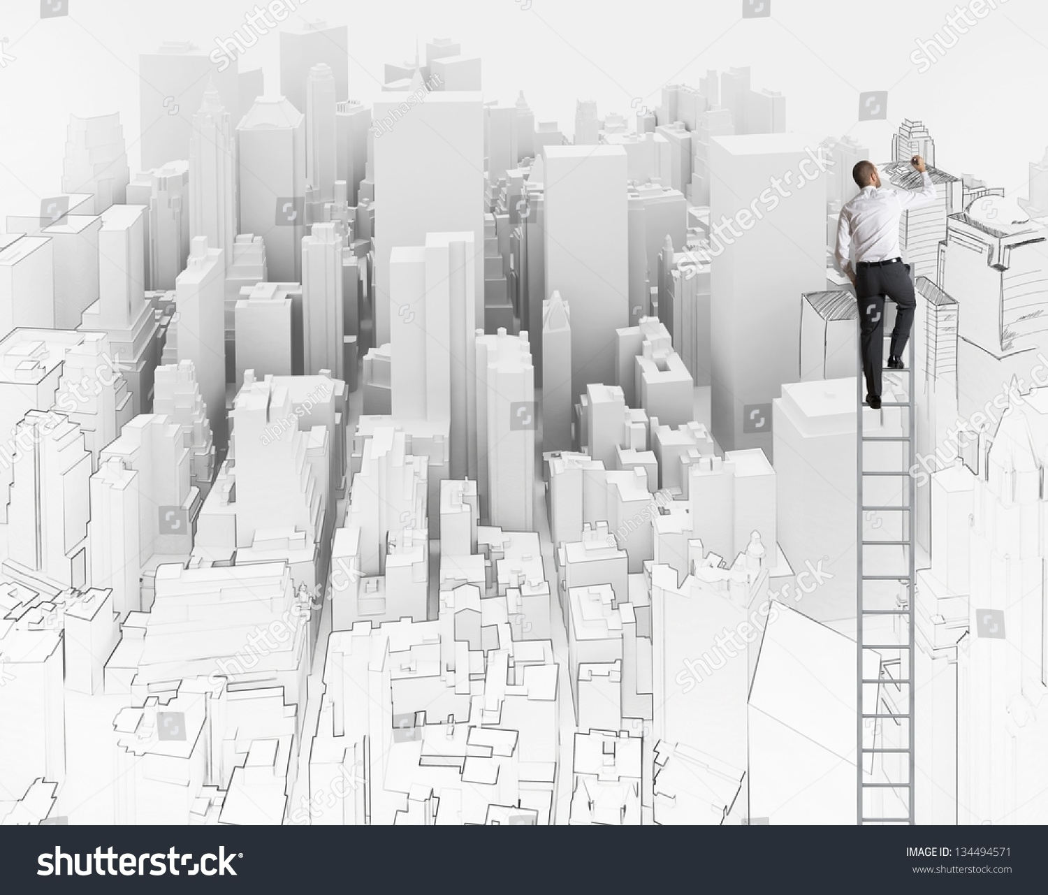 city office sketch architect stock photo 134494571 shutterstock