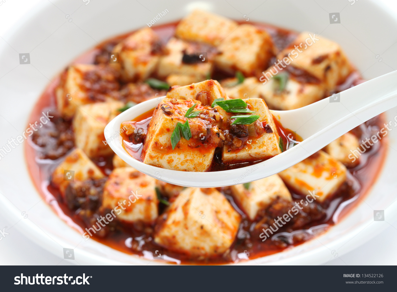Sichuan Mapo Tofu, Chinese Food Stock Photo 134522126 Shutterstock