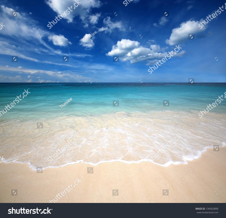sea beach blue sky sand sun stock photo (download now) 134562899