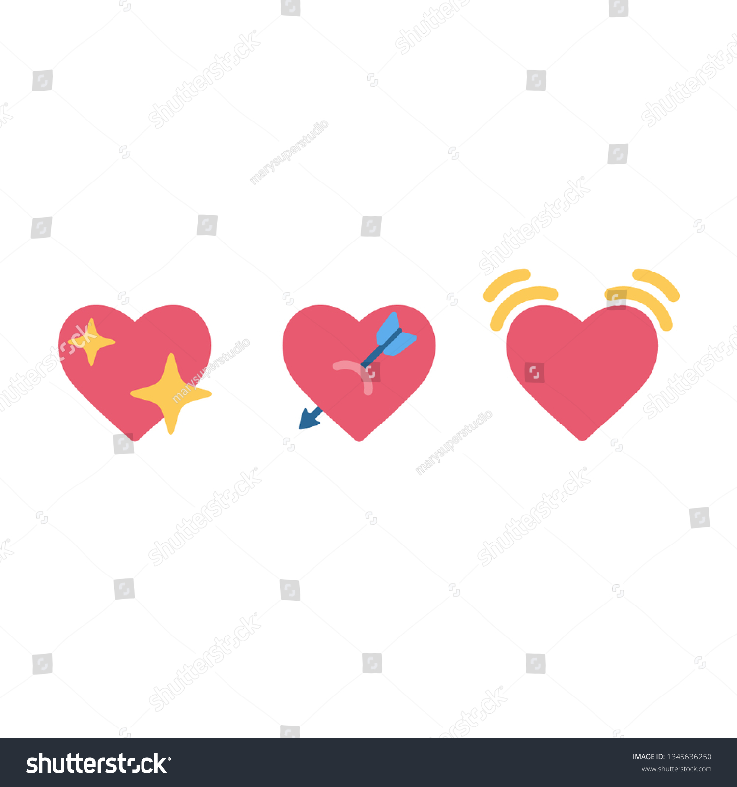 Image Vectorielle De Stock De Icone Iphone Scintillant Coeur Emoji Signe 1345636250