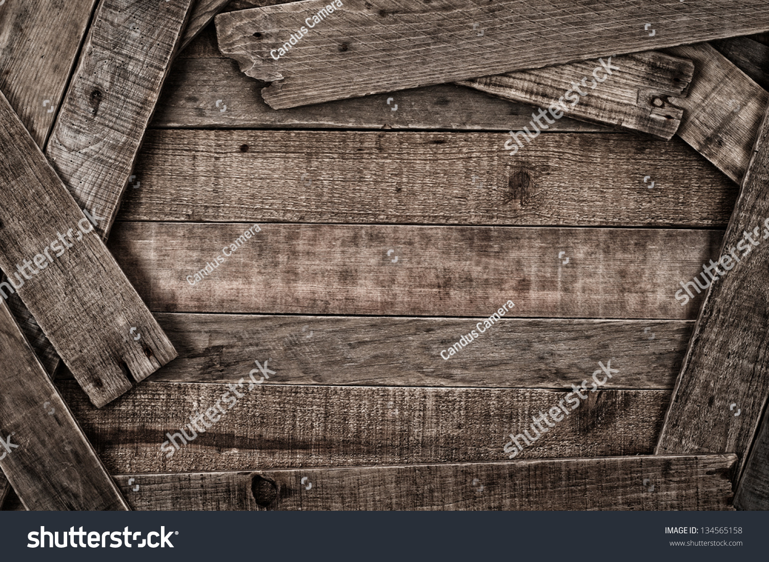 Grunge Country Style Rustic Wood Background With Center Copyspace