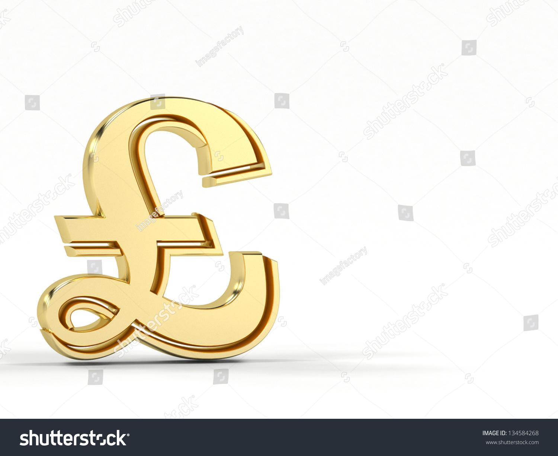 Golden Pound Symbol Ez Canvas