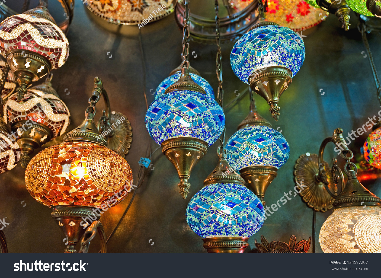 crystal lamps for sale. Crystal Lamps For Sale On The Grand Bazaar At Istanbul R
