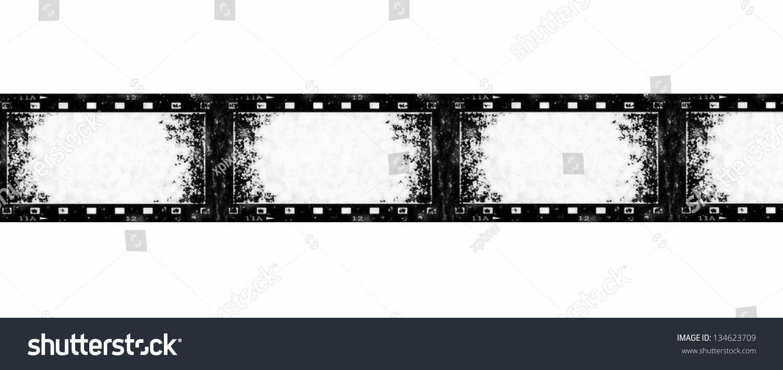 Old Grunge Film Strip Background Texture Stock Illustration
