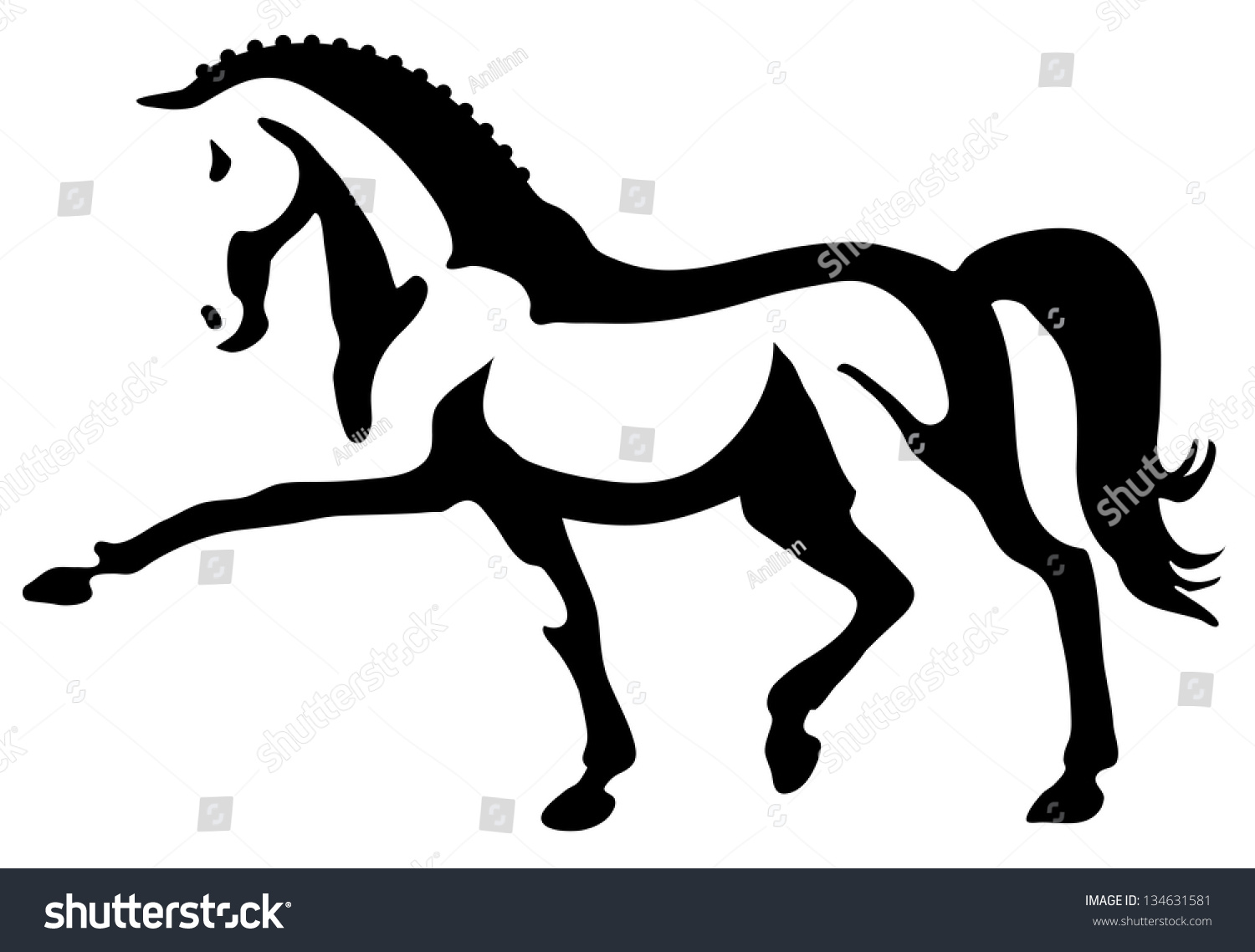 clip art dressage horse - photo #25