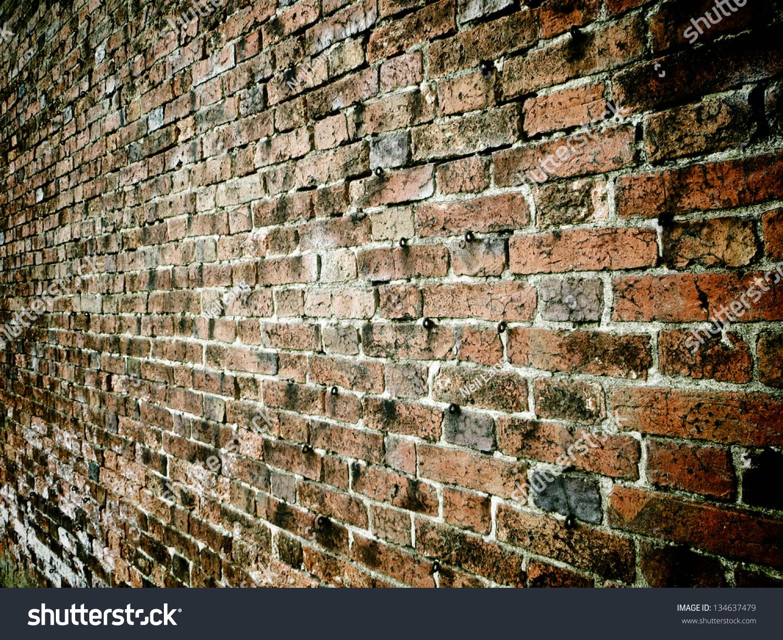 Brick Wall Hooks Stock Photo (Edit Now) 134637479