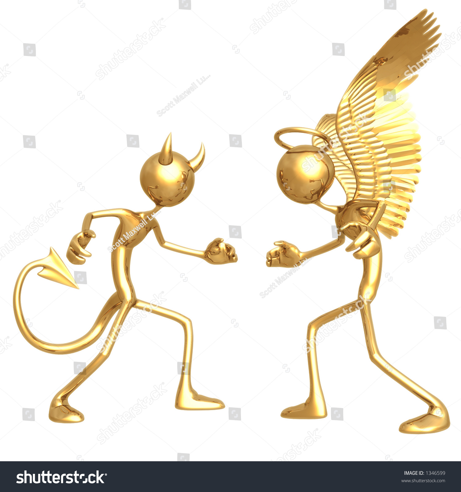 Good Vs Evil Stock Illustration 1346599 - Shutterstock