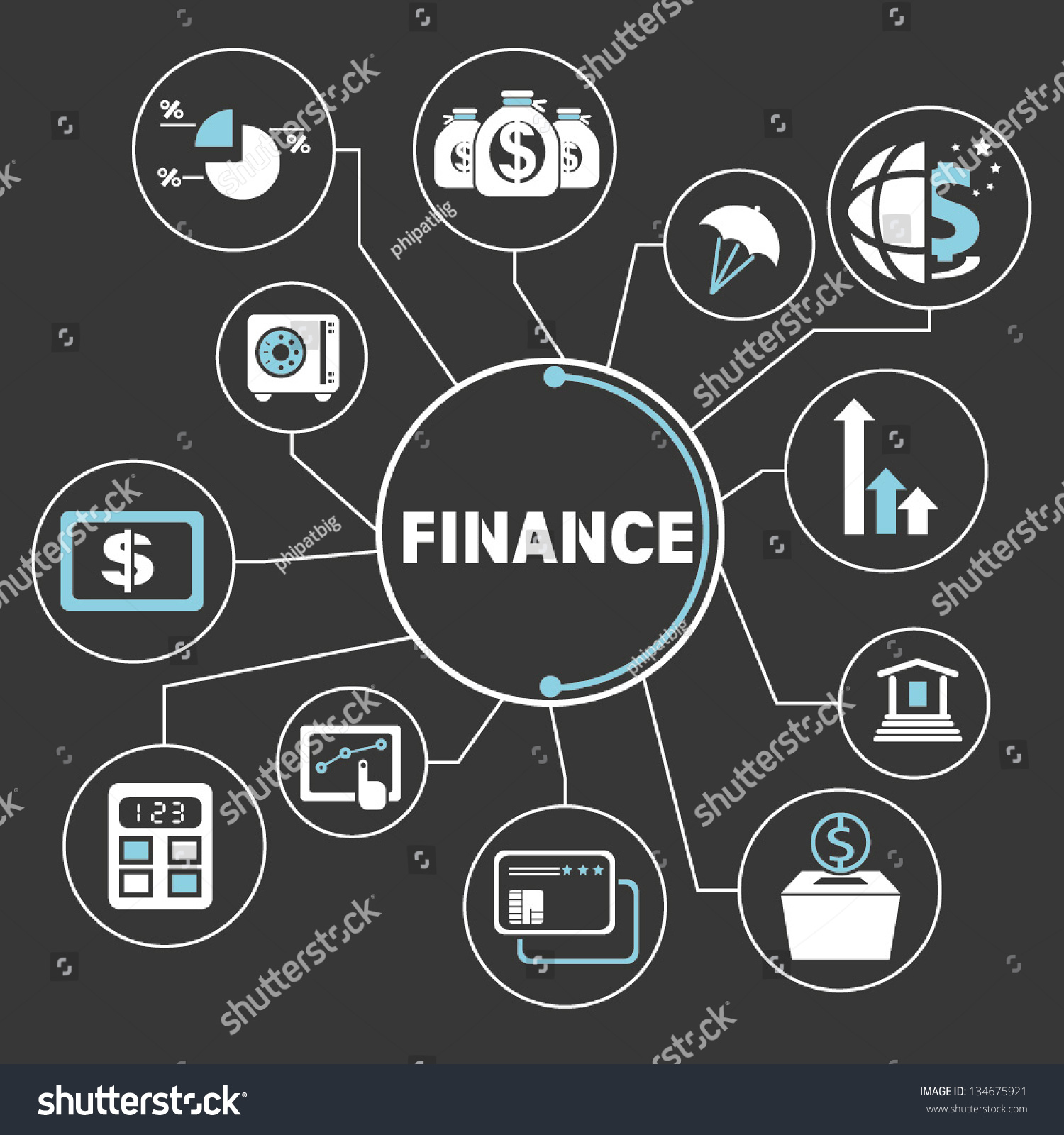 Financial mind map info graphics stock vector 134675921 shutterstock financial mind map info graphics biocorpaavc Images