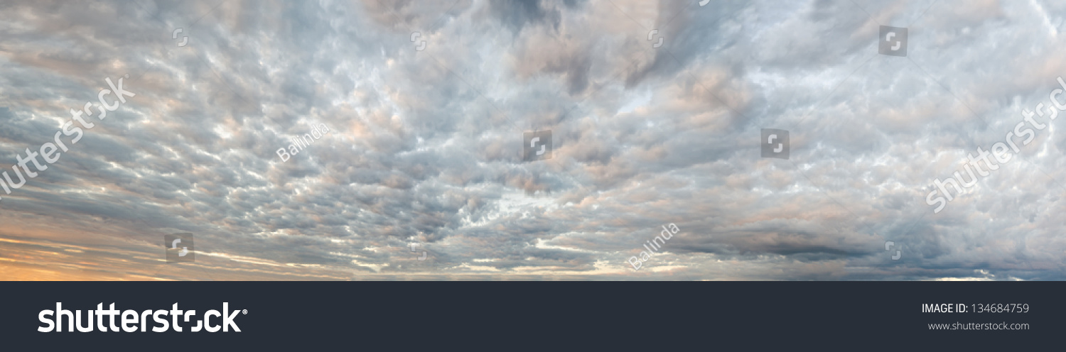 Sky Background Panorama Made Several Dozen Stock Photo (Edit Now ...