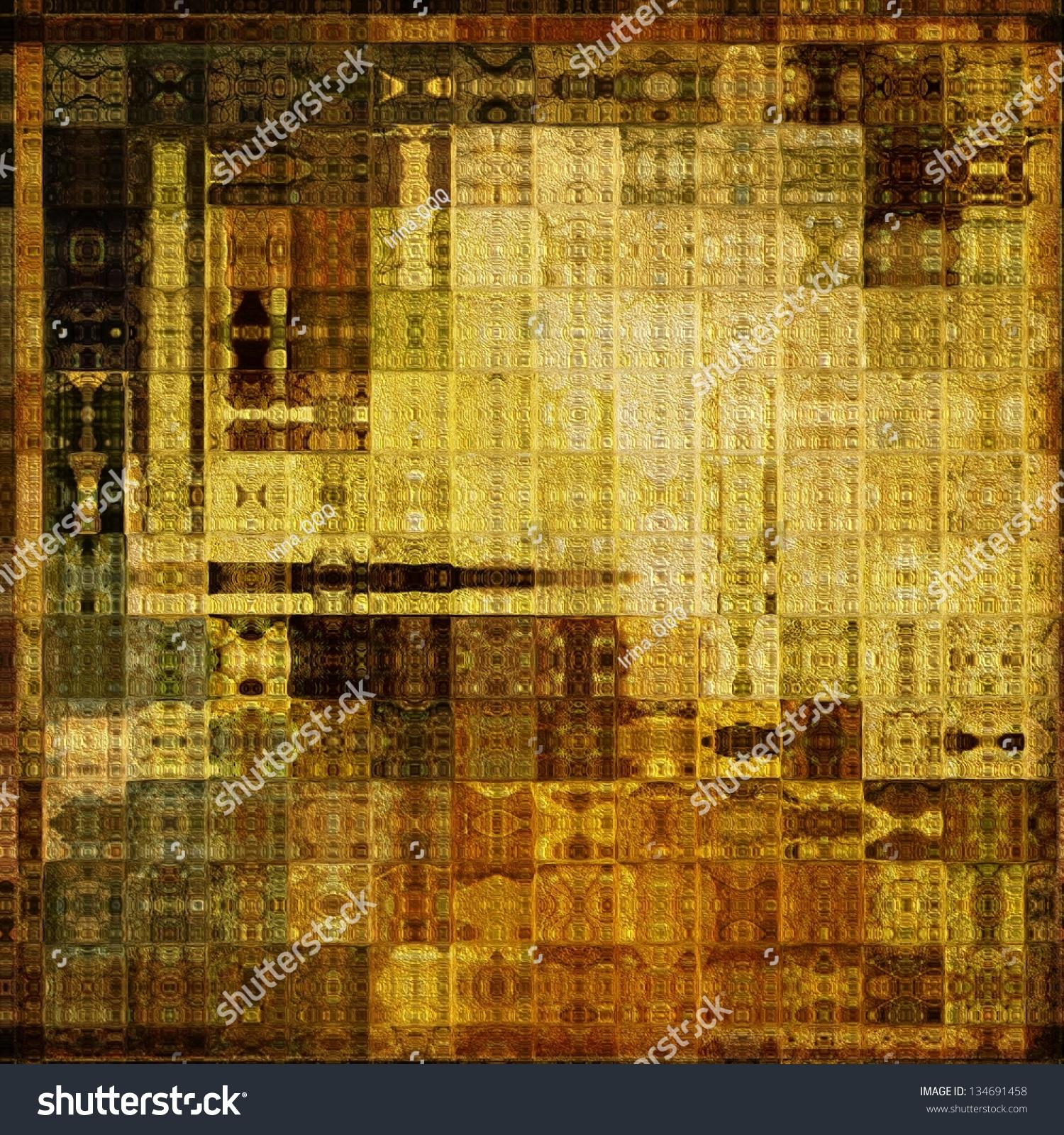 Art Abstract Vibrant Geometric Seamless Pattern Stock Illustration ...