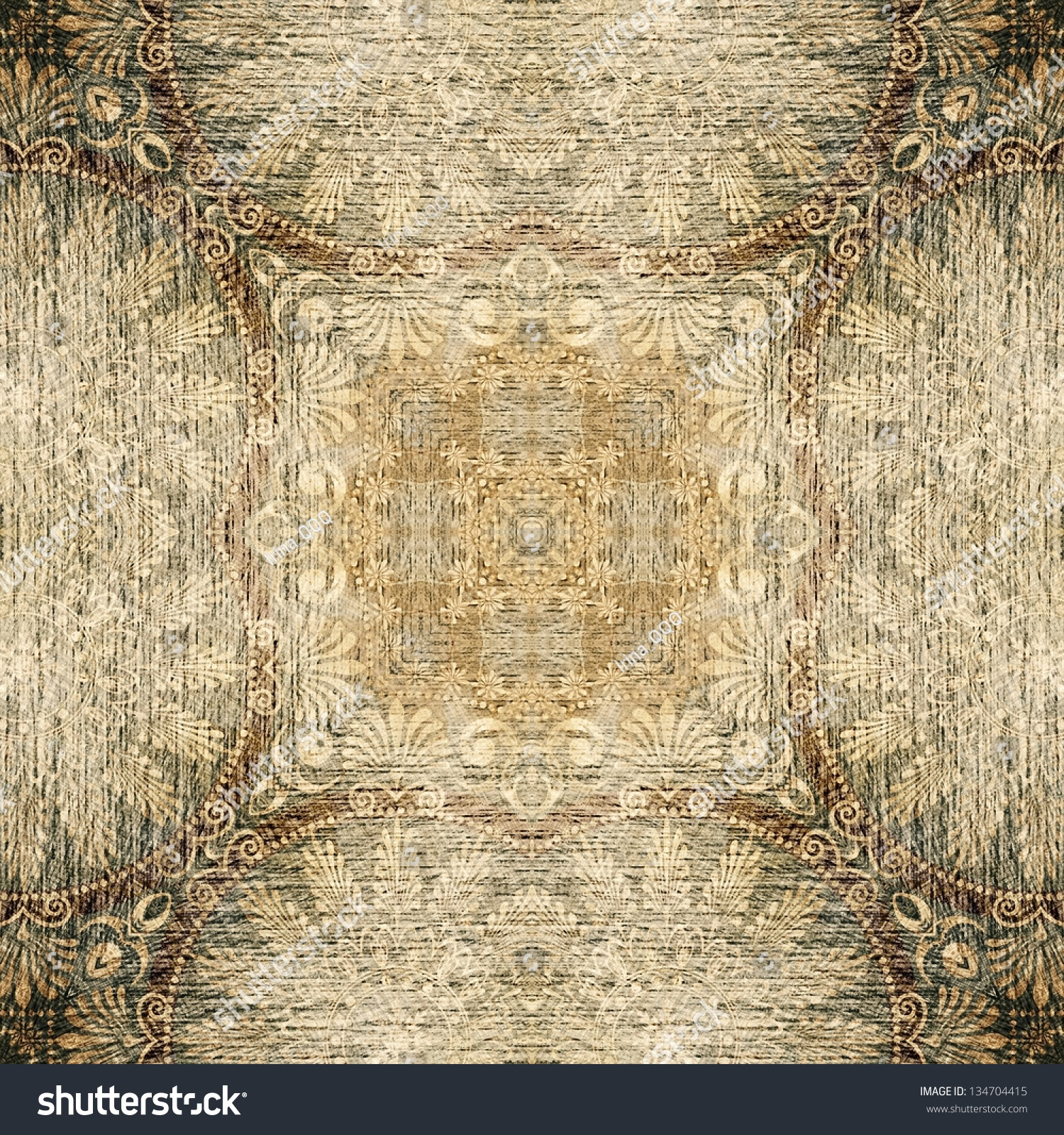 Art Vintage Geometric Ornamental Monochrome Pattern Stock ...