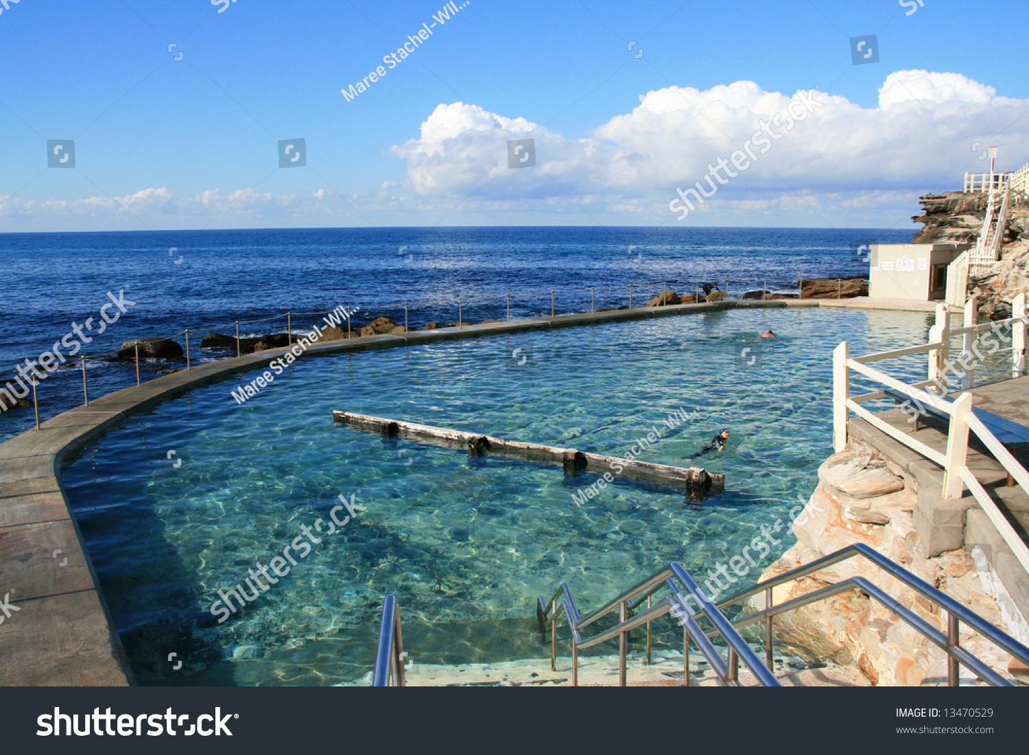 Natural Seawater Pool Australia Stock Photo 13470529 Shutterstock
