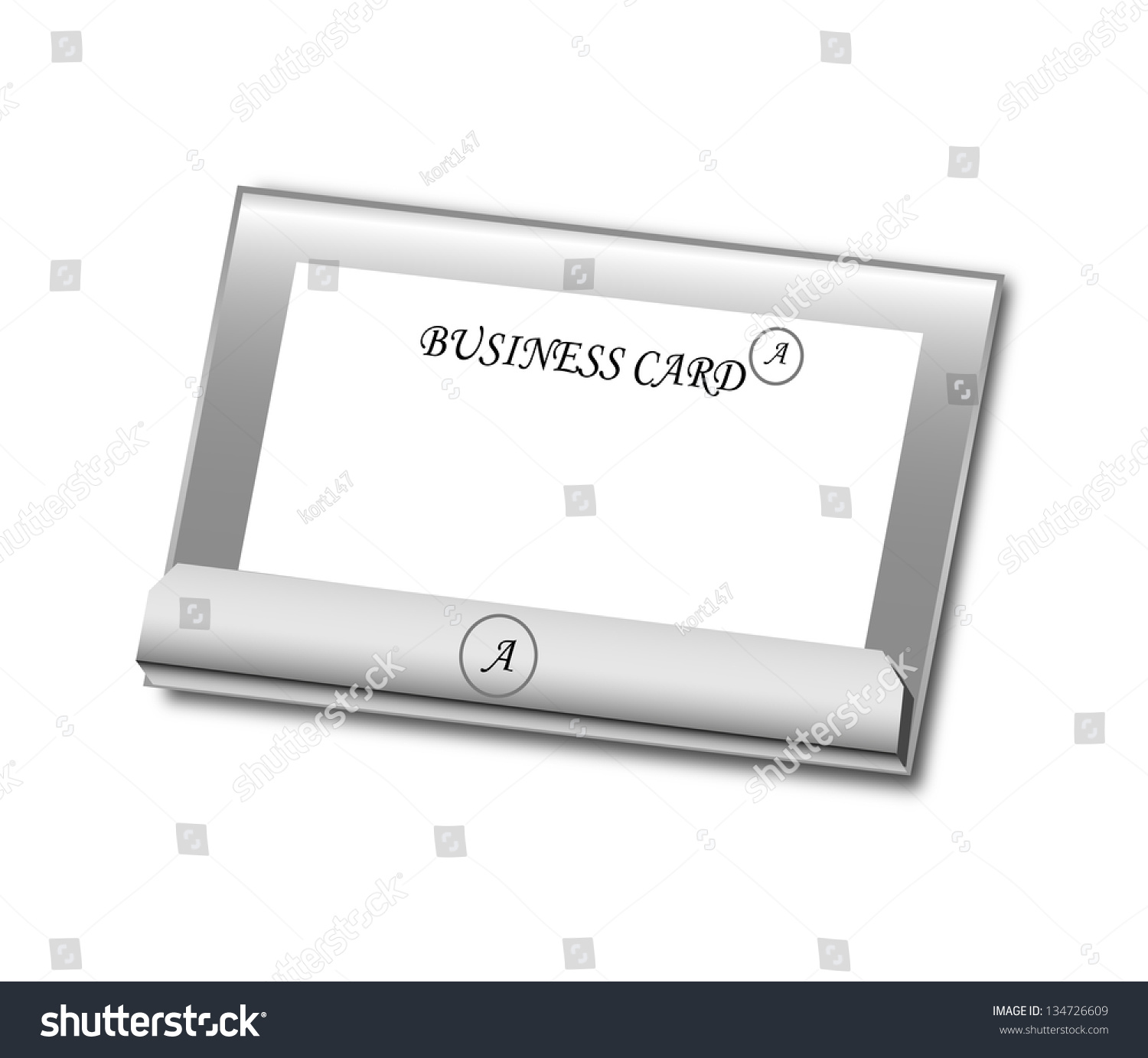 White glossy holder business cards vector stock vector 134726609 white glossy holder for business cards vector illustration reheart Choice Image