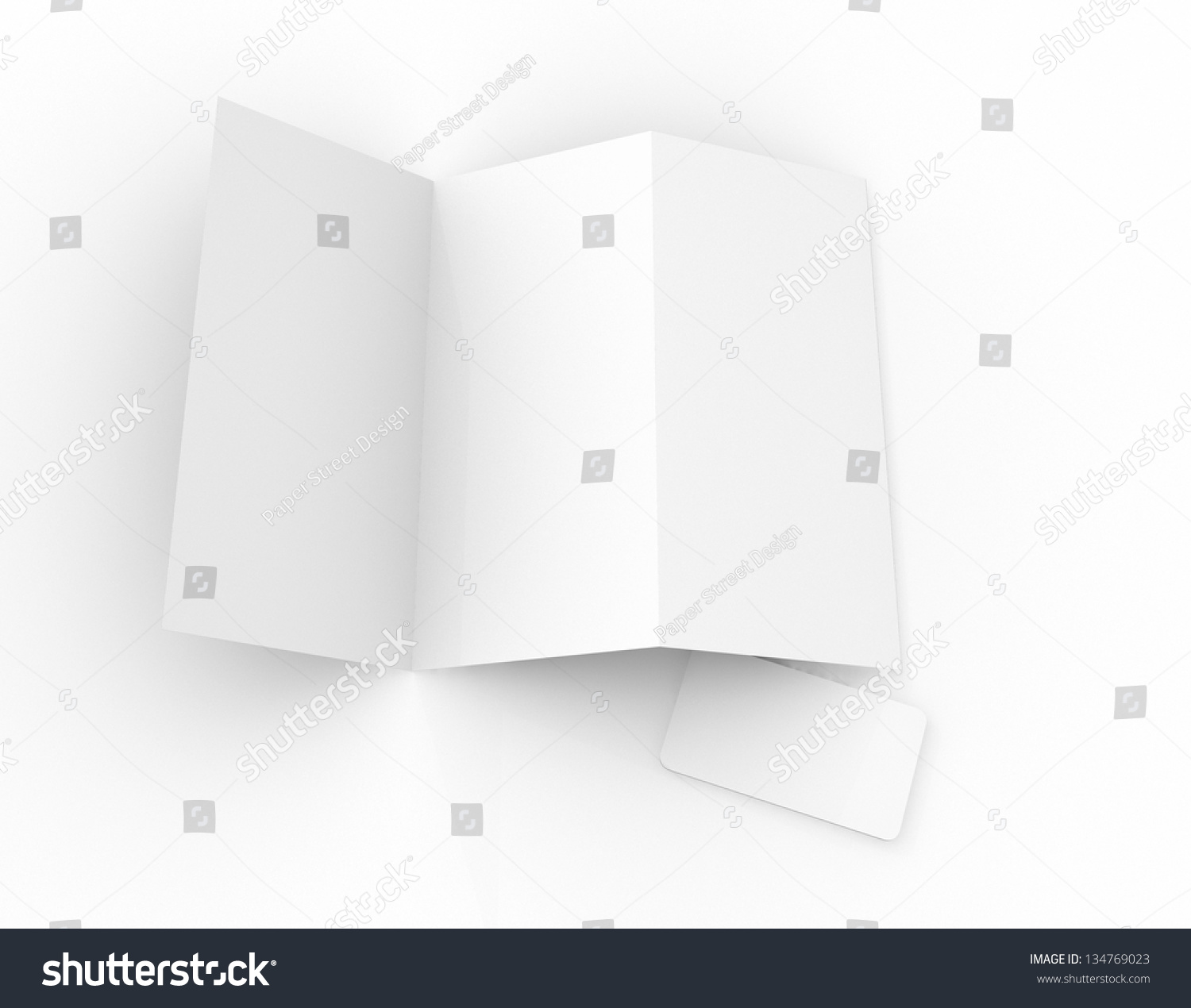 three panel brochure template - blank template of a 3 panel brochure leaflet and business