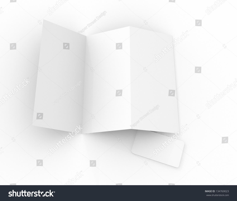 Blank Template Panel Brochureleaflet Business Stock Illustration - 3 panel brochure template