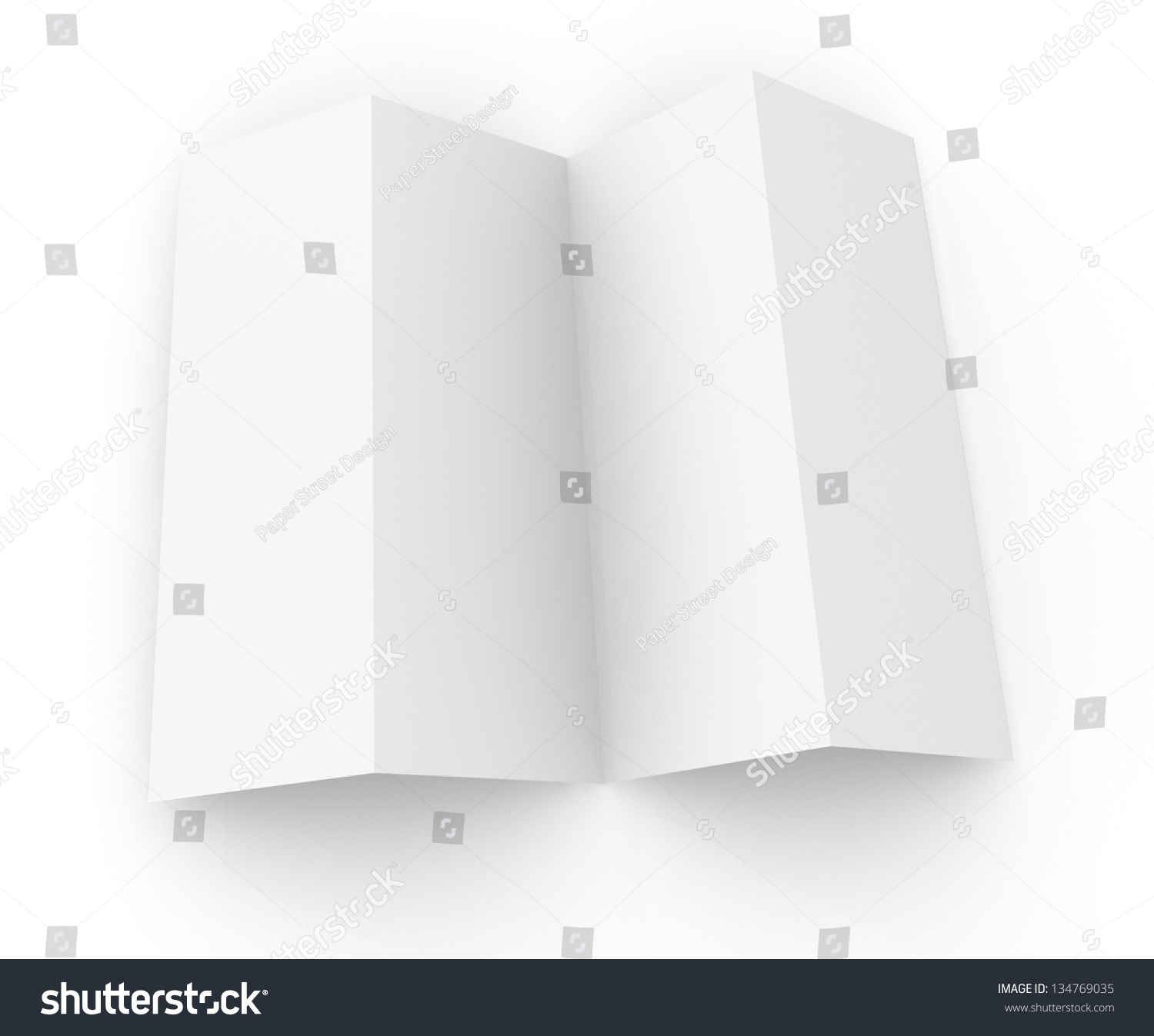 Blank template of a 4 panel brochure stock photo 134769035 for 4 panel brochure template