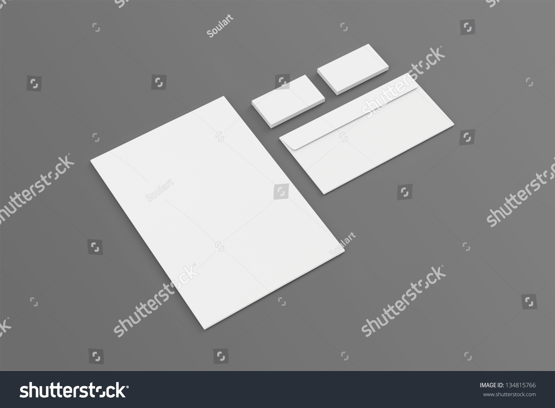 Blank A 4 Paper Business Cards Envelopes Stock Illustration ...