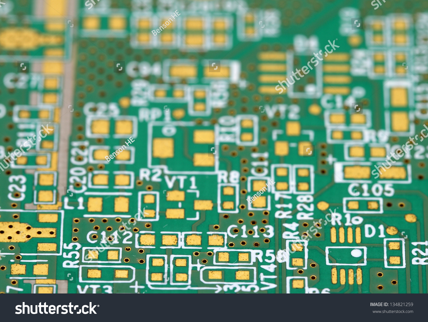 Closeup Shot Printed Wiring Board Surface Stock Photo Edit Now Mount Of A For Technology