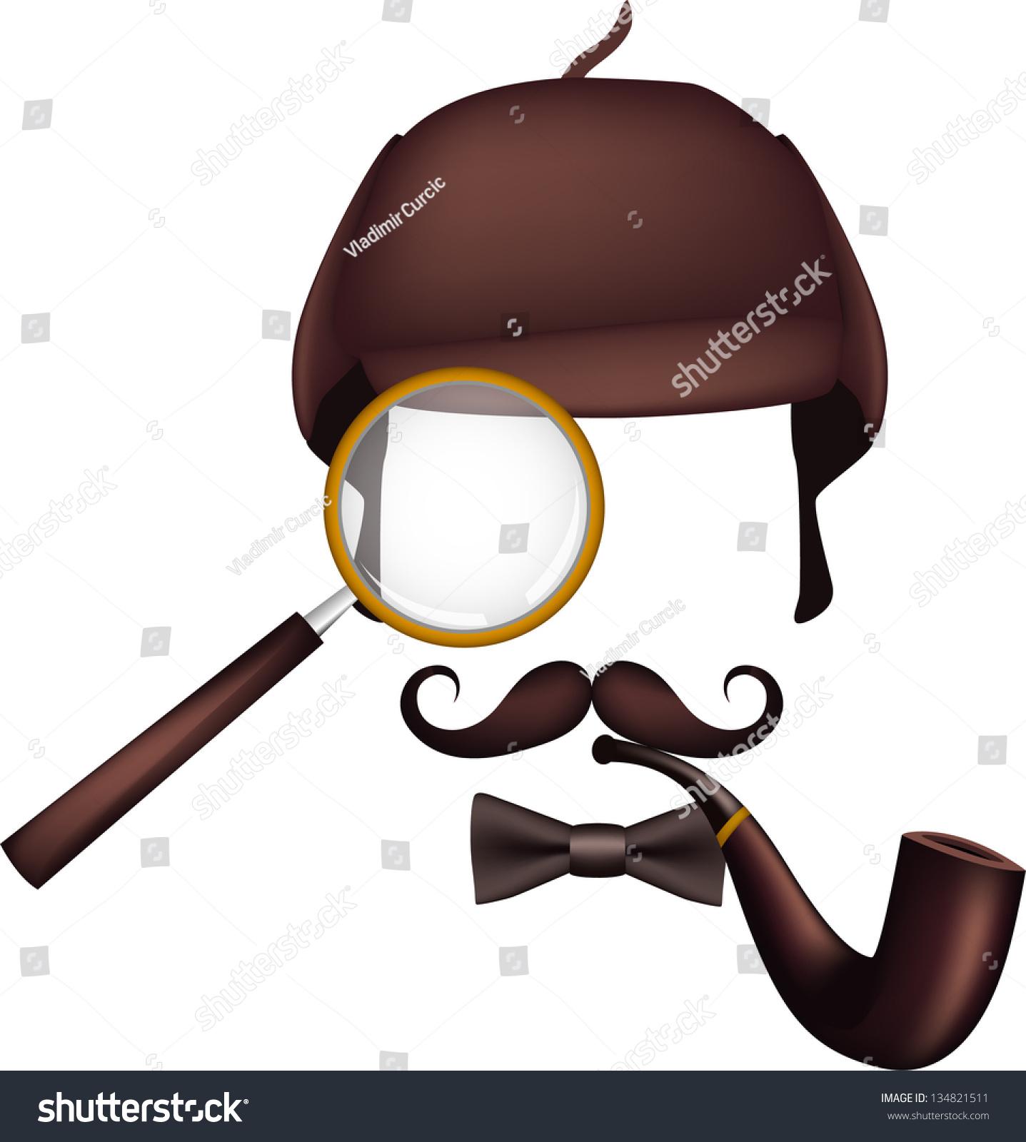 Sherlock Holmes Detective Inventory Stock Vector 134821511