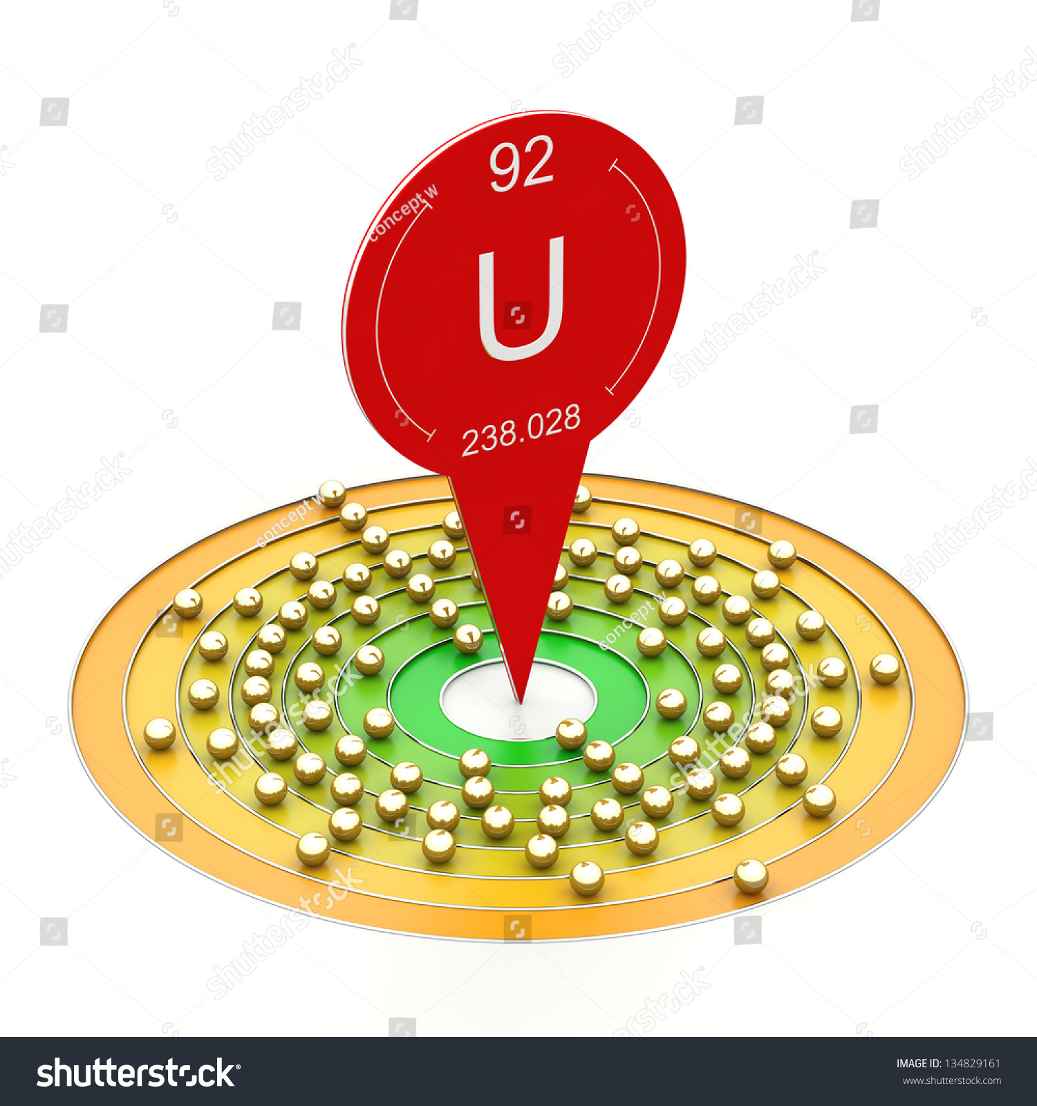 Uranium element periodic table electron configuration stock uranium element from periodic table electron configuration gamestrikefo Image collections