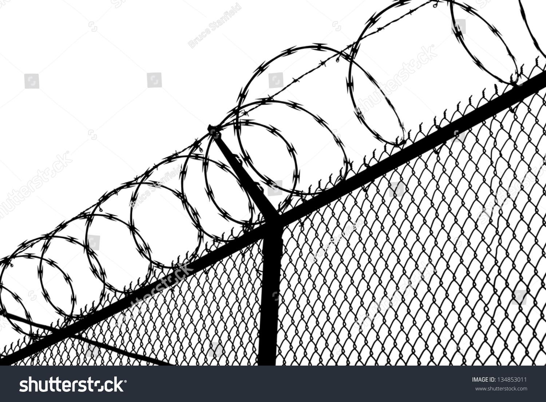 Prison Break Razor Wire Fence Stock Illustration 134853011 ...