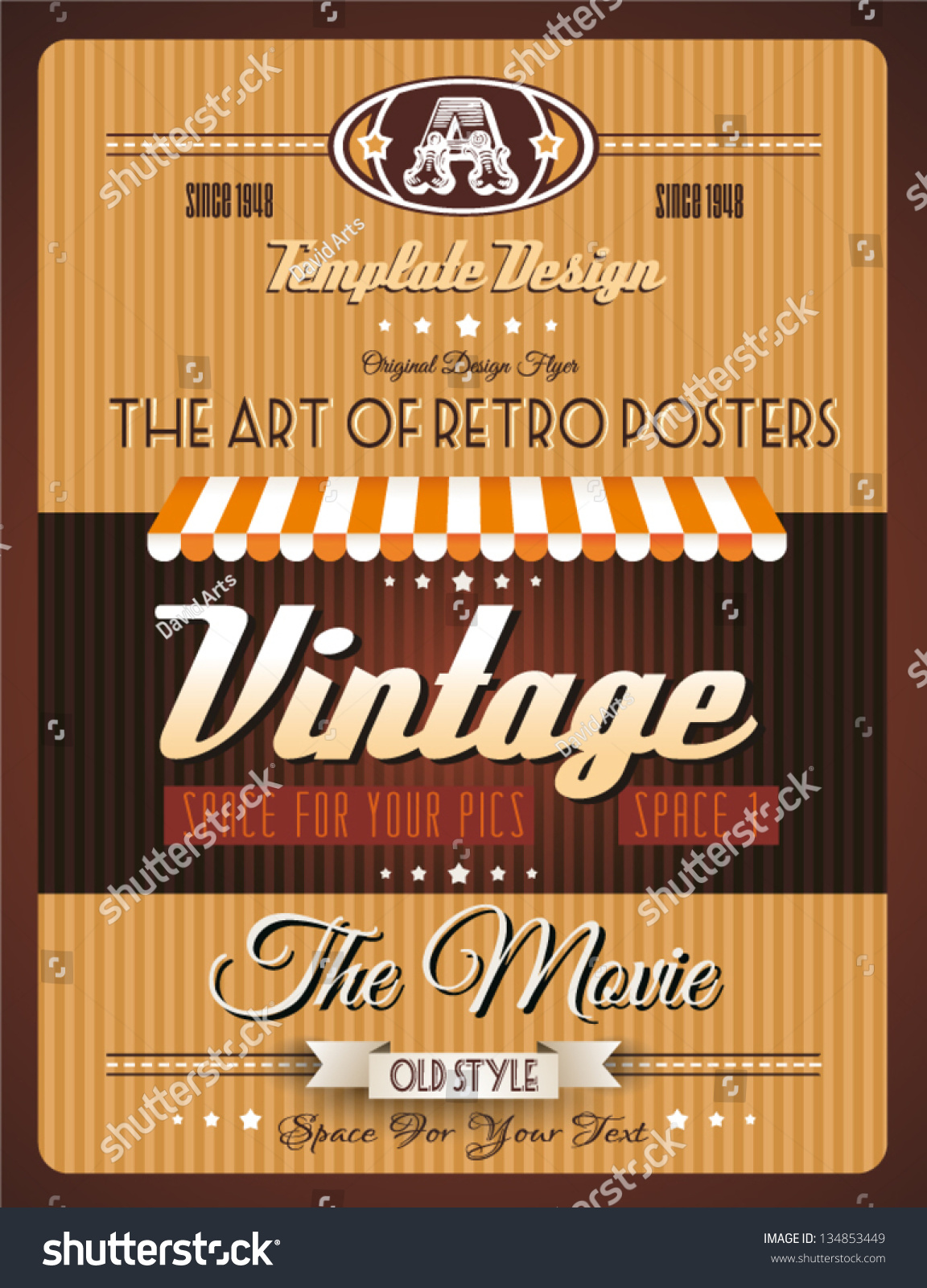 Old Book Cover Posters : Vintage retro page template for a variety of purposes