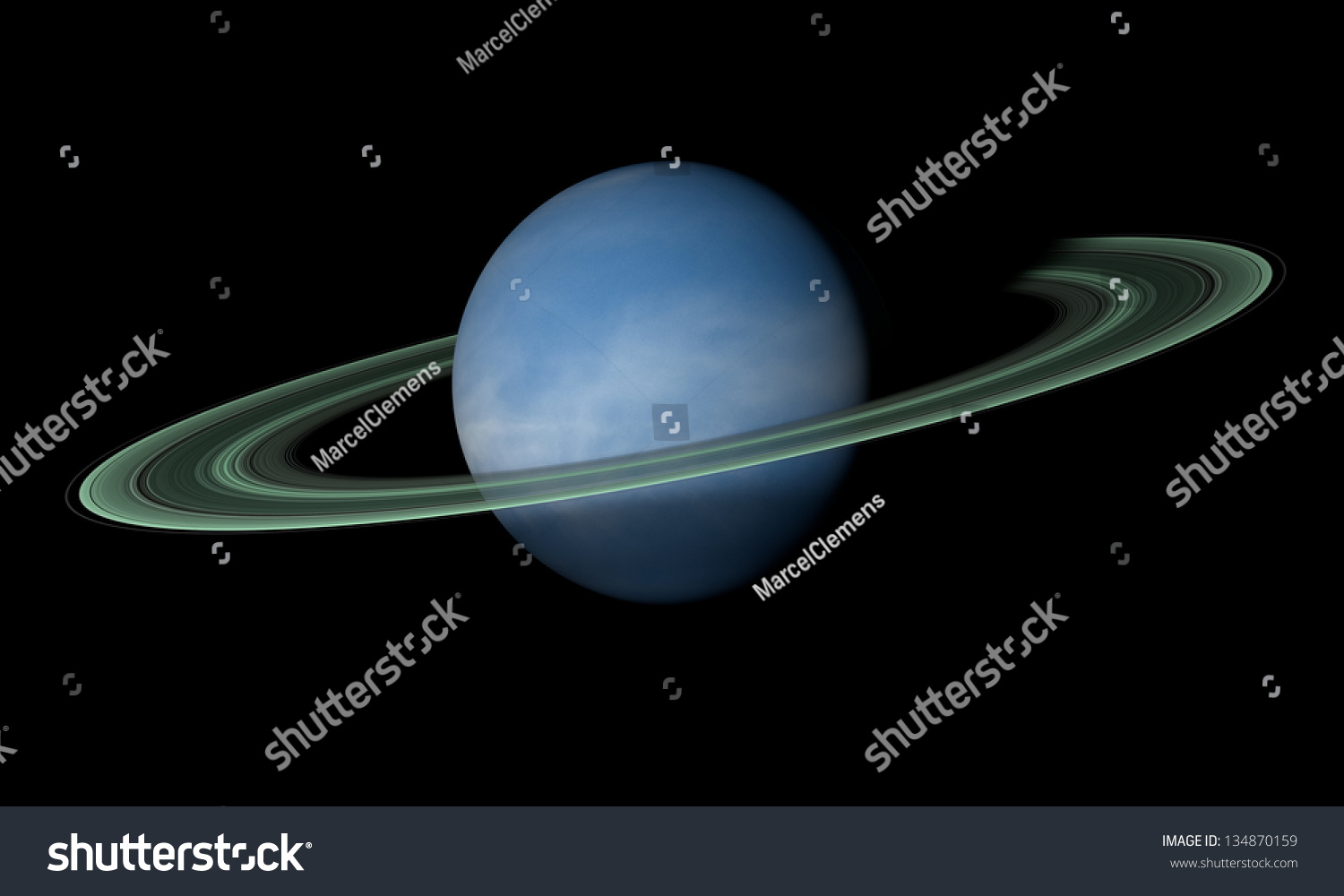 ringed planet beyond our solar system stock photo