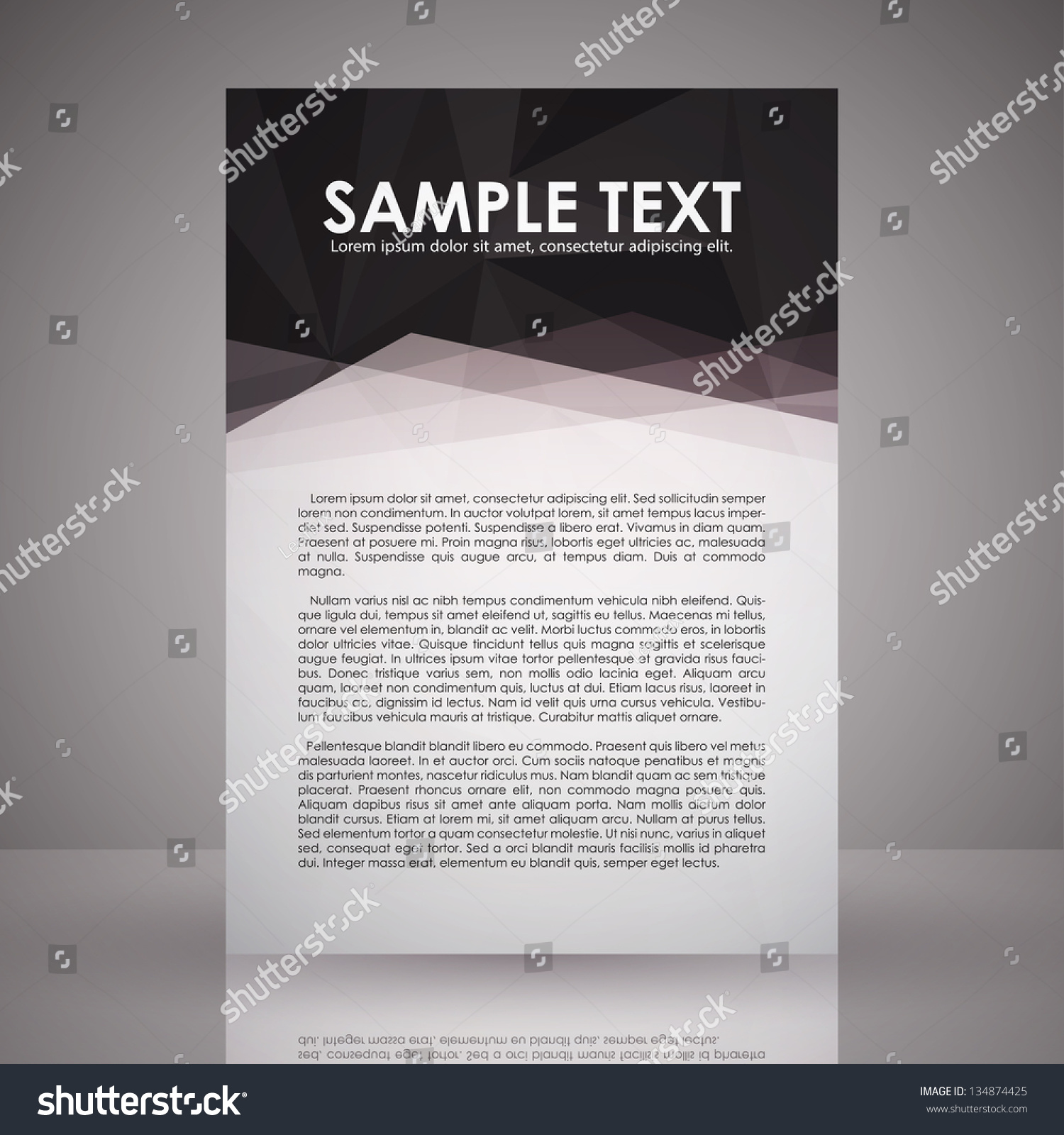 Elegant Black White Flyer Template Eps Vector 134874425 – Black and White Flyer Template