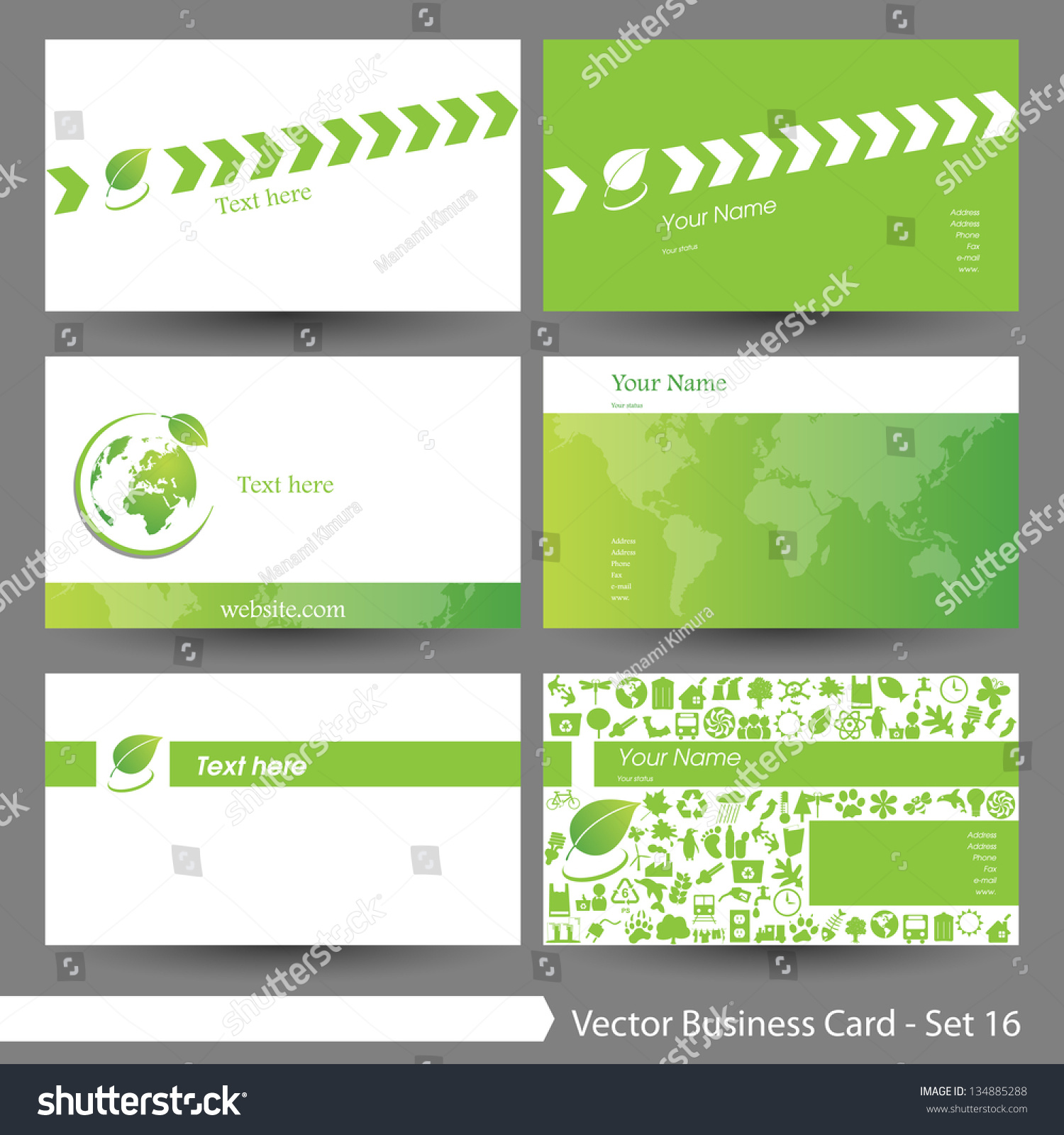 Vector Illustration Business Card Template Set Stock Vector HD ...