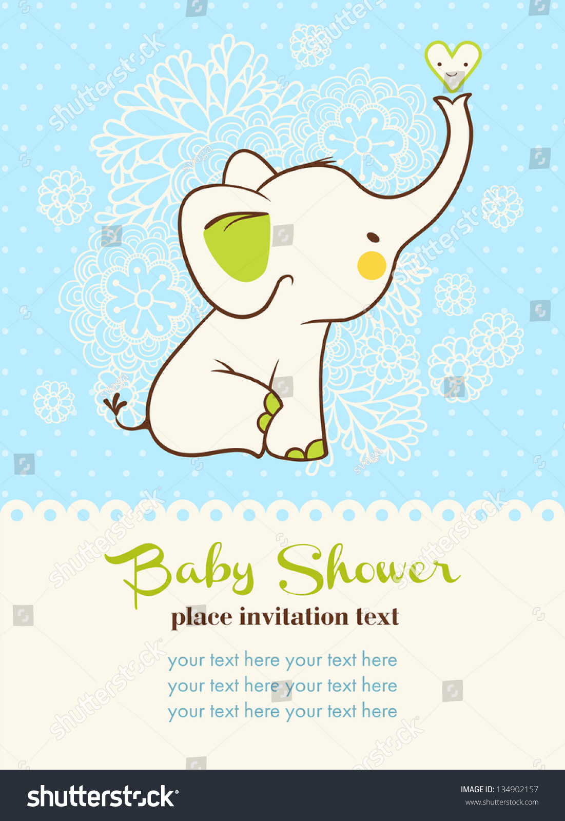 baby shower invitation card stock vector   shutterstock, Baby shower invitations