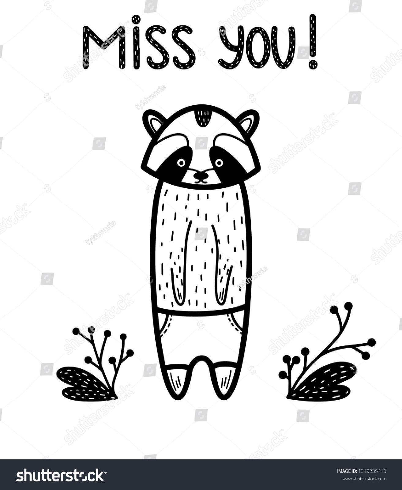 stock-vector-miss-you-raccoon-black-bann