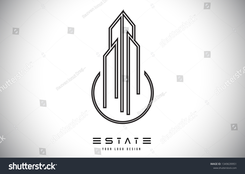 Real Estate Modern Monogram Logo Design Stock Vector Royalty Free 1349639951