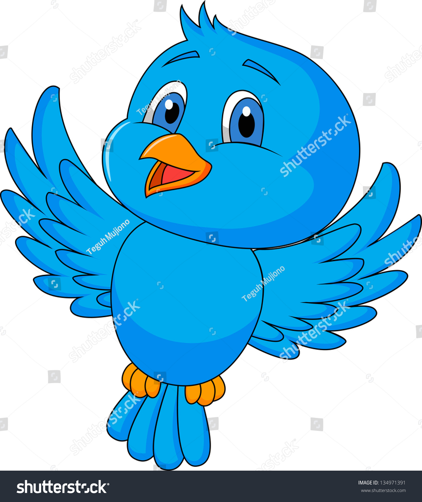 Cute Birds Flying Clipart