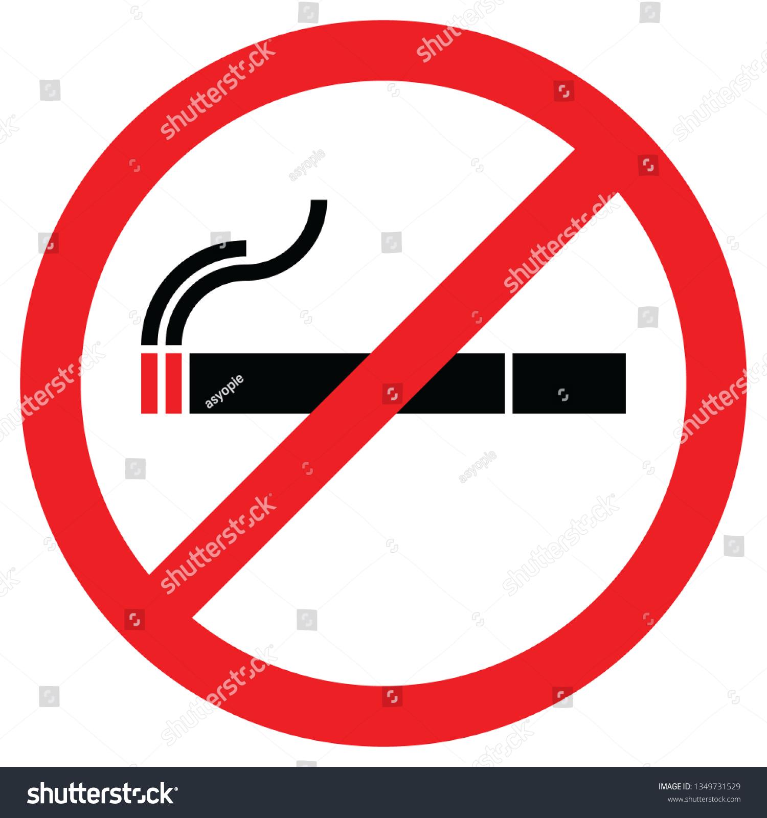 Stop Smoking Logo No Smoking Sign Stock Vector Royalty Free 1349731529
