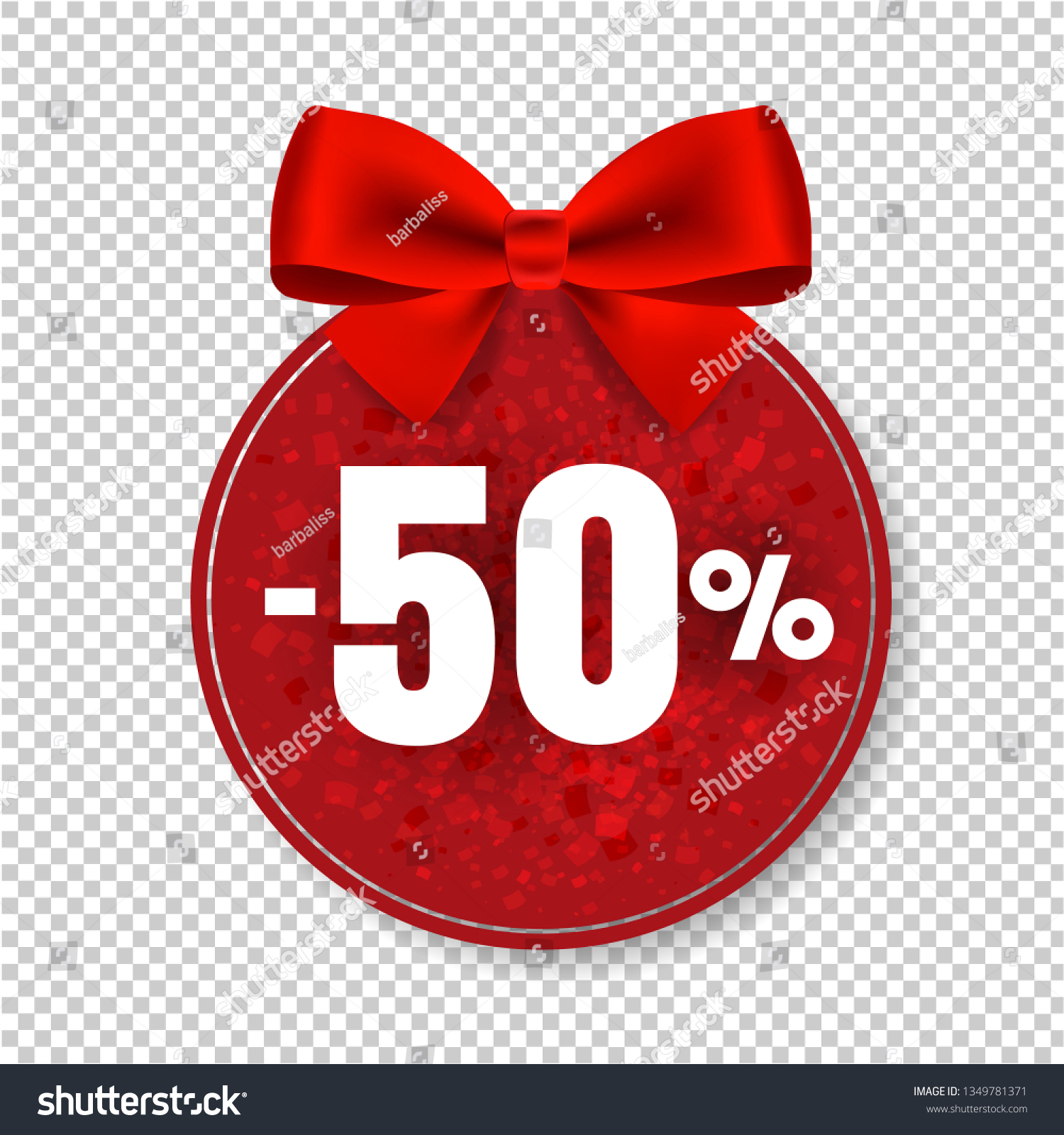 Price Tag Red Bow Isolated Transparent Stock Illustration 1349781371