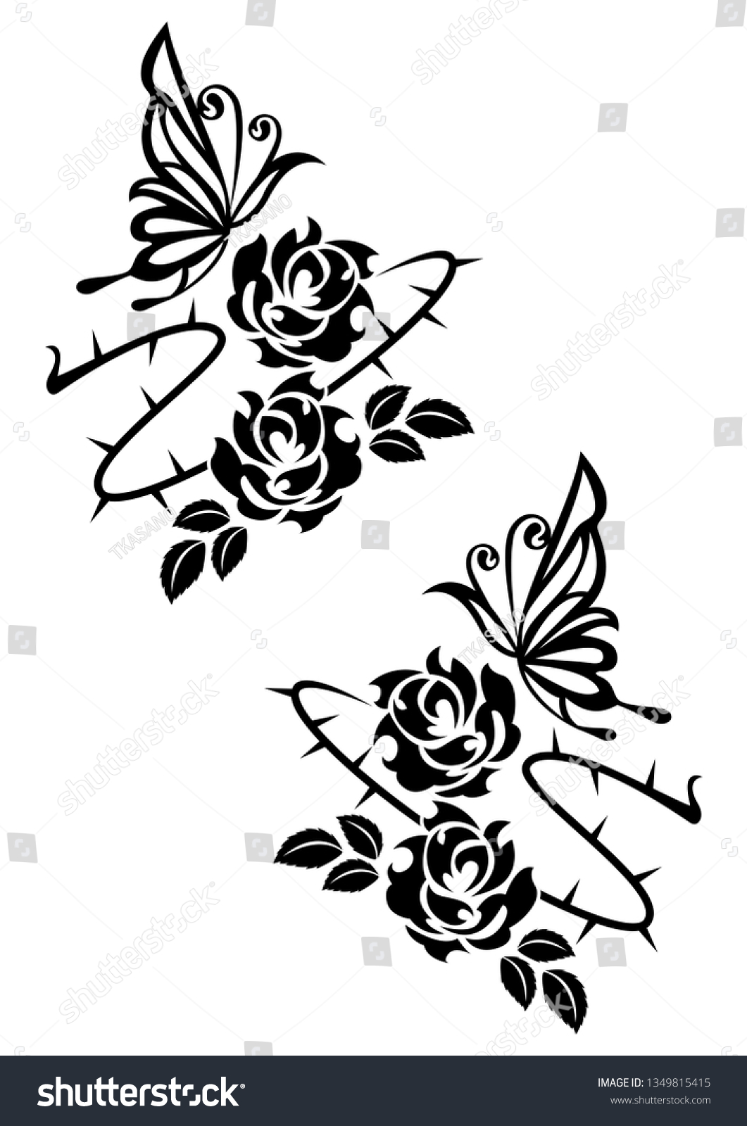 Ethnic Artwork Butterfly Rose Tattoo Tribal Stock Vector Royalty Free 1349815415,Electrical Control Panel Design Calculations