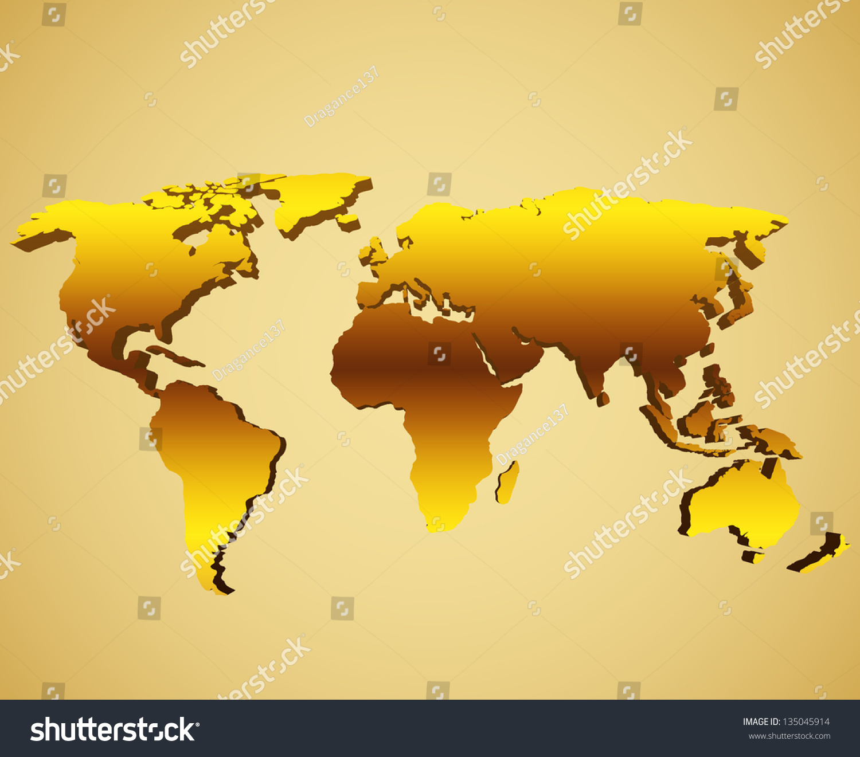 Golden world map vectores en stock 135045914 shutterstock gumiabroncs Image collections