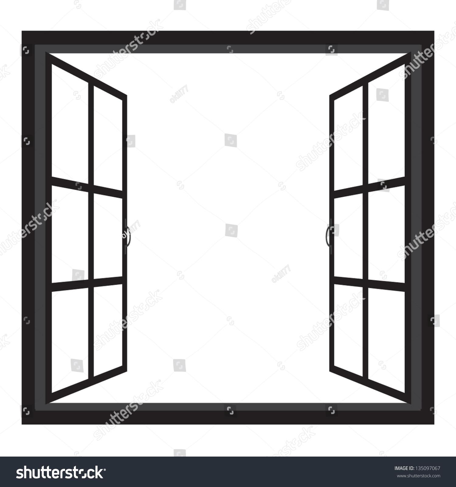 Open Window Clipart Clipart Suggest: Windowswide Open Window Silhouette Vector Stock Vector