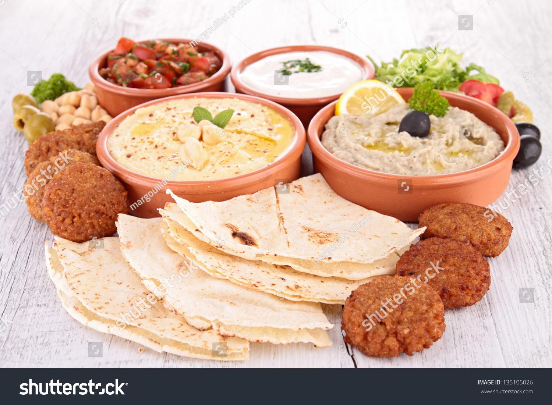 Assorted oriental food mezze stock photo 135105026 for Sideboard orientalisch