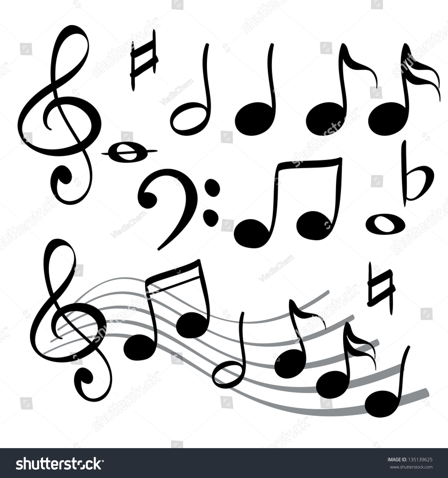 music cartoon note vector icon illustration vectors shutterstock footage illustrations