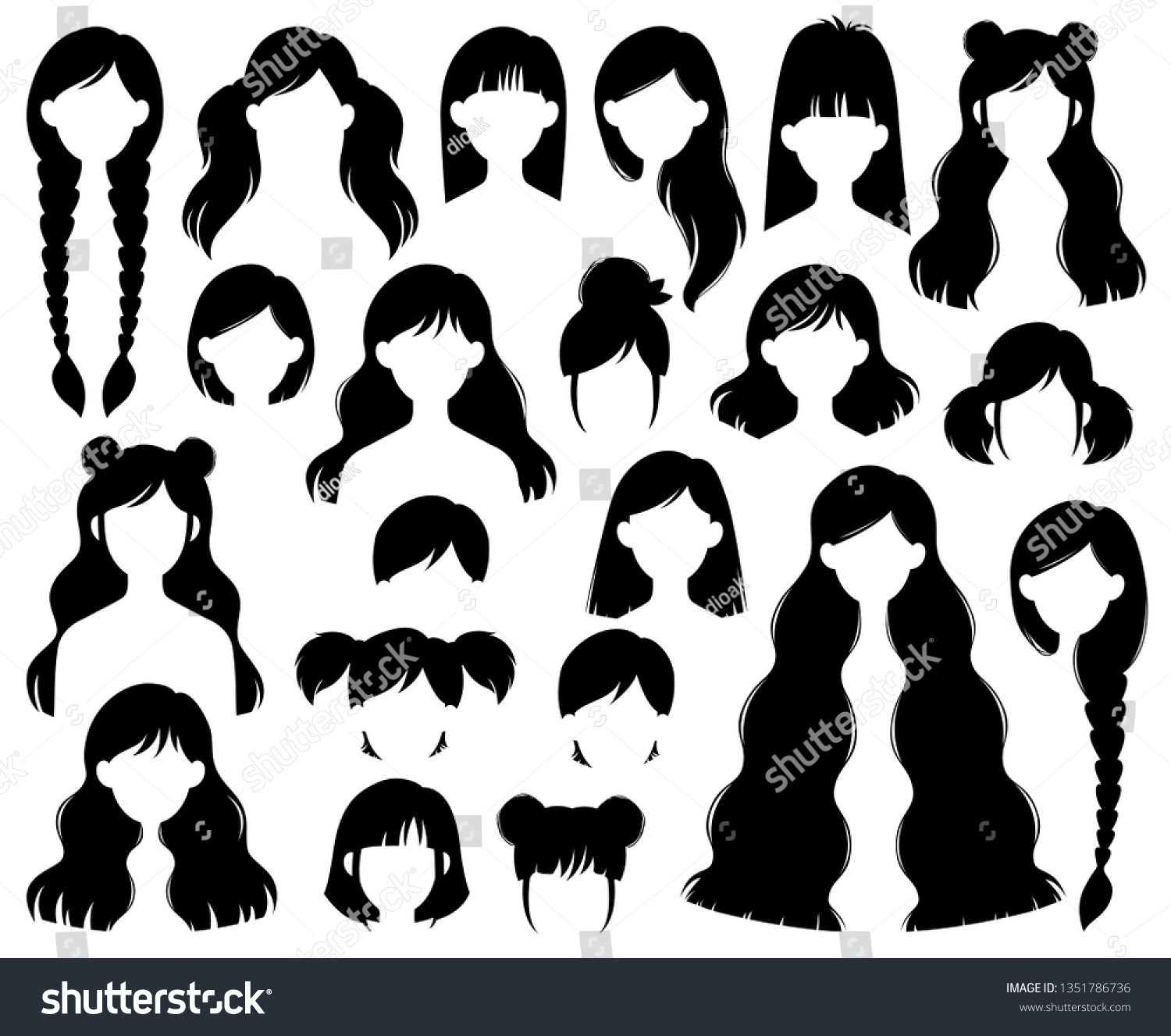 Types Hairstyles Beehive Bob Braided Bun Stock Image   Download Now