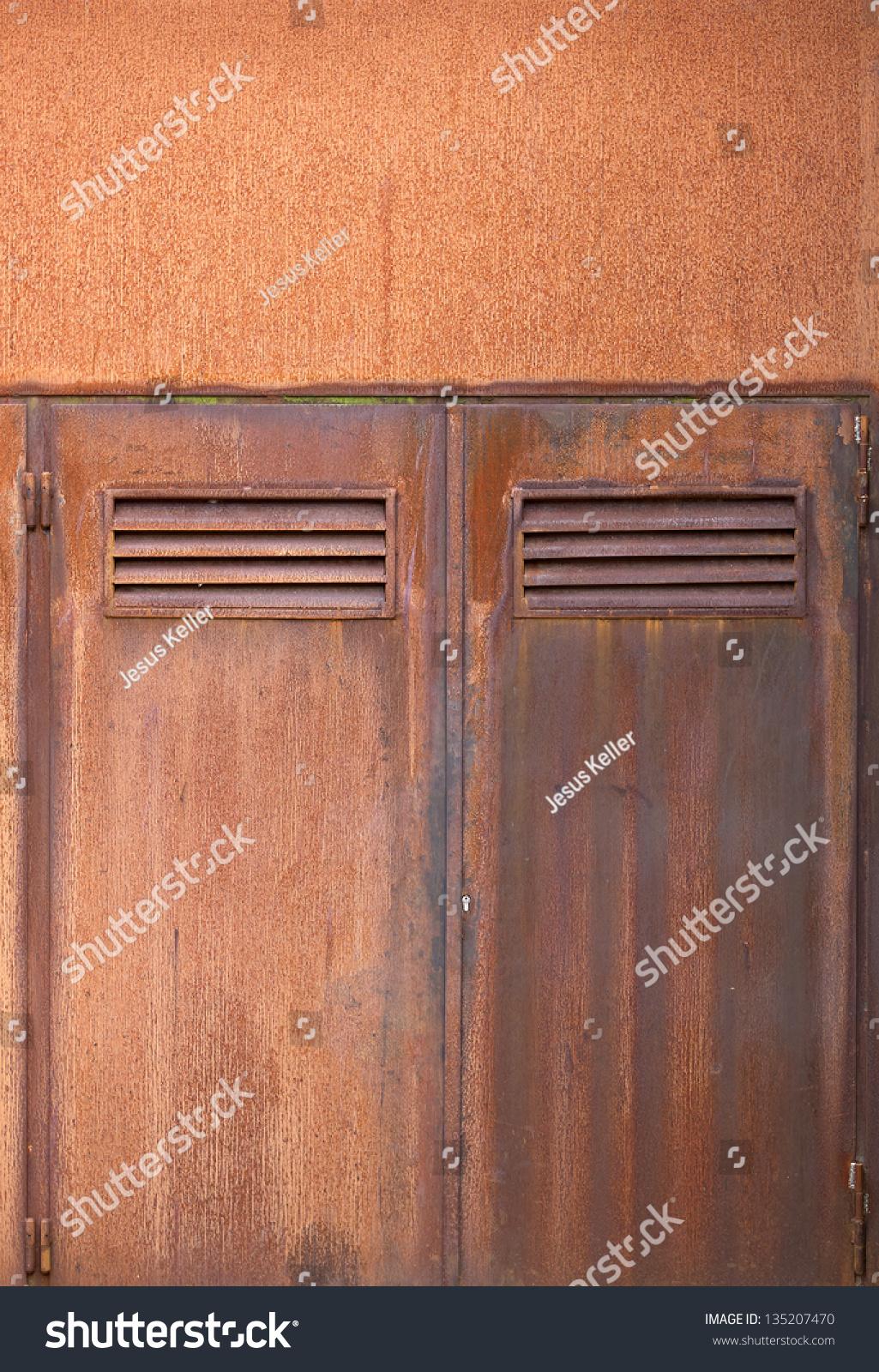 Corten Steel Doors Close Up