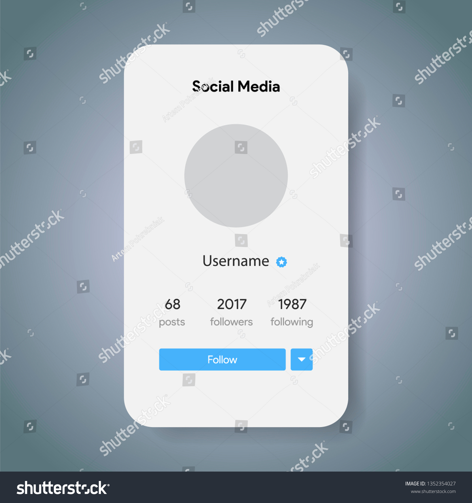 Social Media Preview Page Inspired By Stock Vector (Royalty