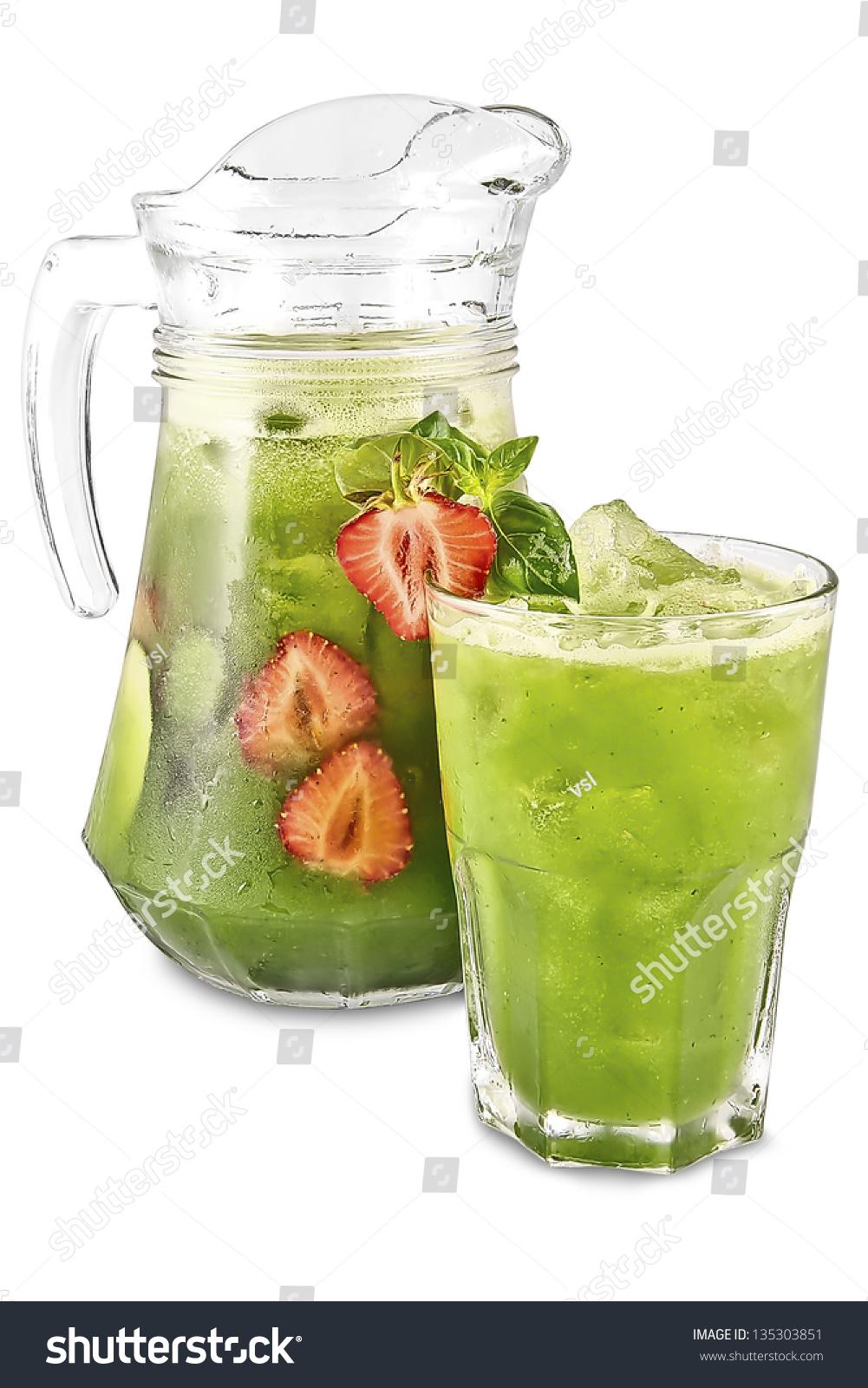 Cucumber-Basil Lemonade Stock Photo 135303851 : Shutterstock