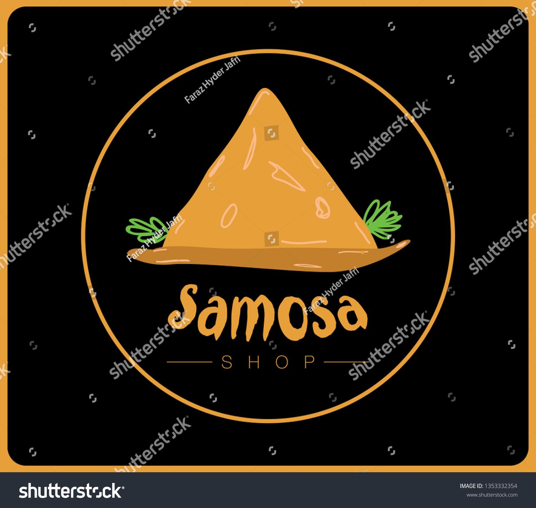 Samosa Shop Logo Vector Stock Vector Royalty Free 1353332354