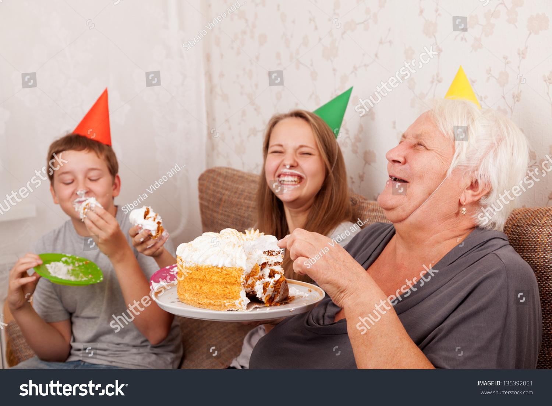 Fabulous Boy Teenage Girl On Birthday Eat Stock Photo Edit Now 135392051 Birthday Cards Printable Opercafe Filternl